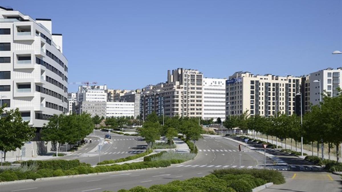 Parte del desarrollo urbanístico de Valdebebas, al norte de Madrid. / EP