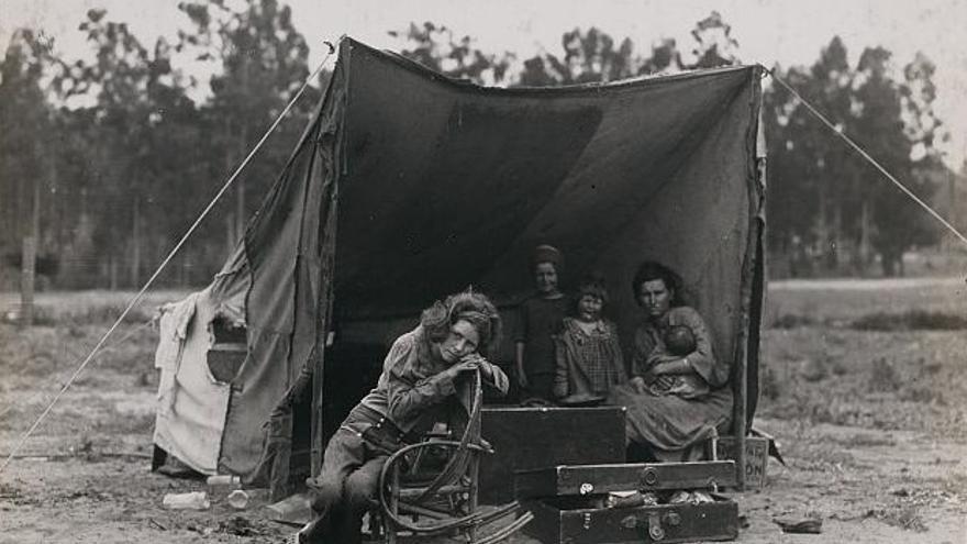 Dorothea Lange, 1936. Farm Security Administration / Office of War Information. Cortesía de la Library of Congress, Whashington.
