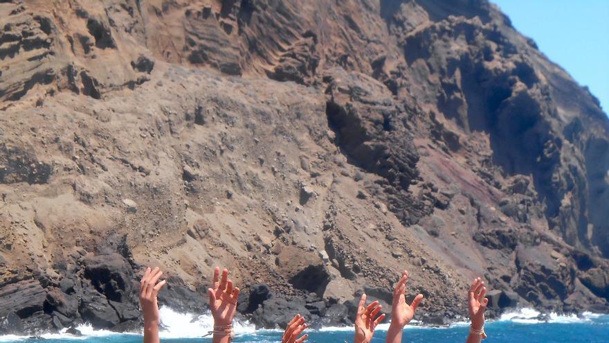 Rodaje de 'Iyena', cortometraje para el Parque Arqueológico del Tendal dirigido por Mercedes Afonso en la Punta del Moro (Mazo).