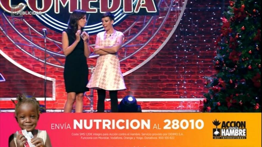 El club de la comedia en La Sexta puso en marcha un SMS para luchar contra la desnutrición infantil /FOTO: lasexta.com