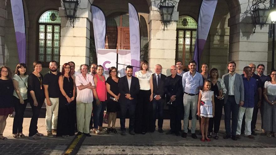Imagen del acto inaugural de Gandia como Capital Cultural Valenciana
