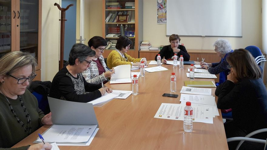 Reunión de la comisión presidida por la consejera de Sanidad, María Luisa Real.