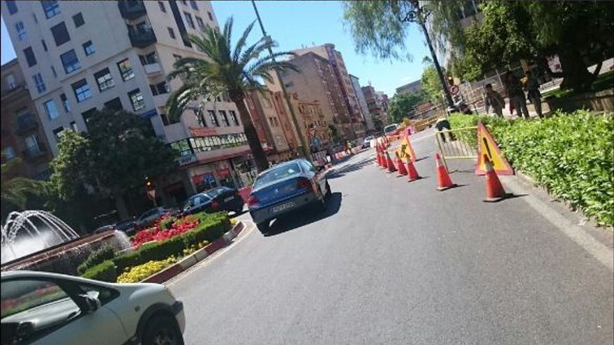 Primo Rivera Caceres tráfico parking