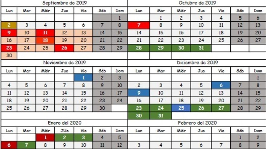Calendario Escolar Cantabria 2020.Publicado El Calendario Escolar Para El Curso 2019 2020 Pese