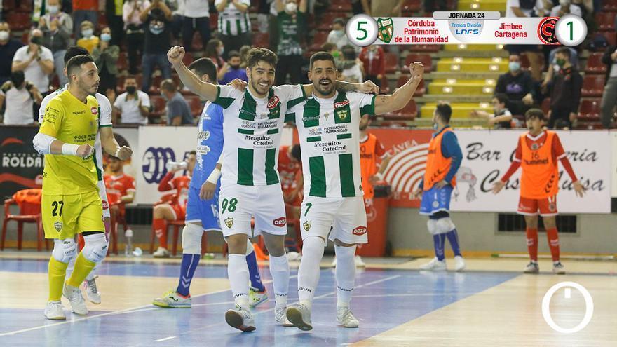 Los jugadores del Córdoba Patrimonio celebran el triunfo.