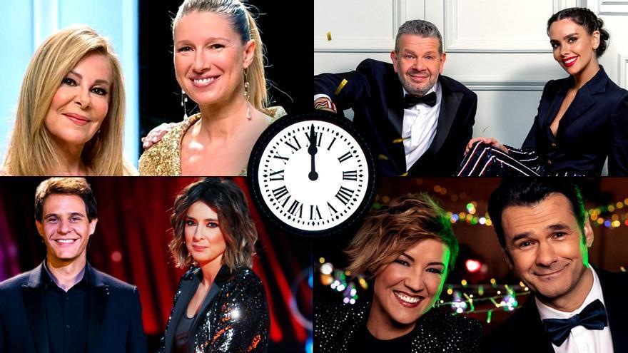 Los presentadores de la Nochevieja en TV