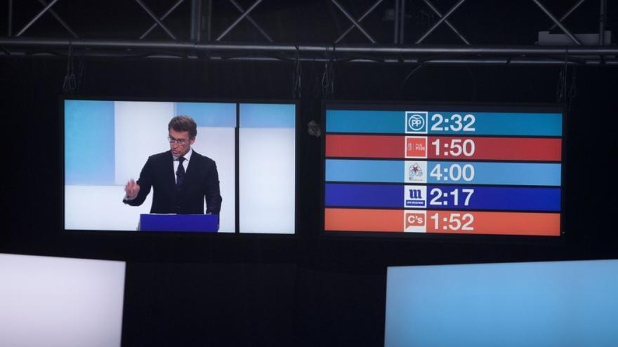 Feijóo, durante el debate en la Televisión de Galicia