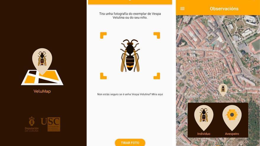 Capturas de la aplicación móvil Velumap