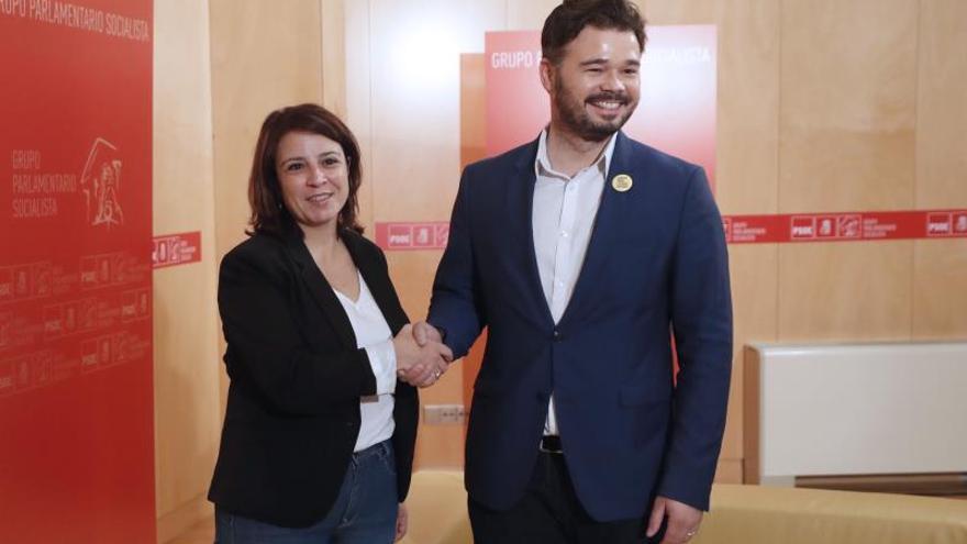 El PSOE pide a ERC y a JxCat que no bloqueen la investidura: no hay alternativa