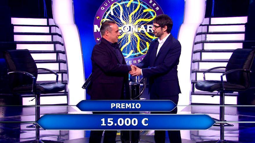Enrique Chicote y Juanra Bonet, en '¿Quién quiere ser millonario?'