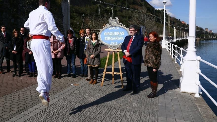 Ayuntamiento de Bilbao inaugura en Olabeaga el nuevo vial que rinde homenaje a las antiguas Sirgueras