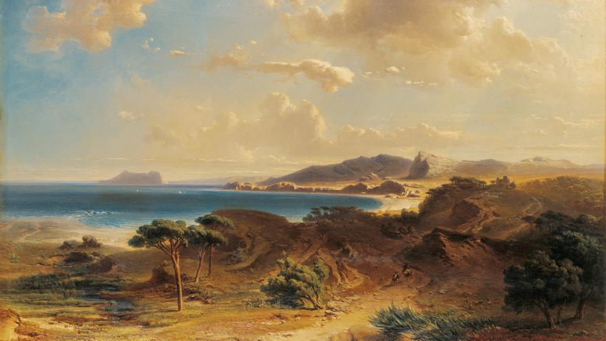 'Playa de Estepona con la vista del Peñón de Gibraltar', de Fritz Bamberger
