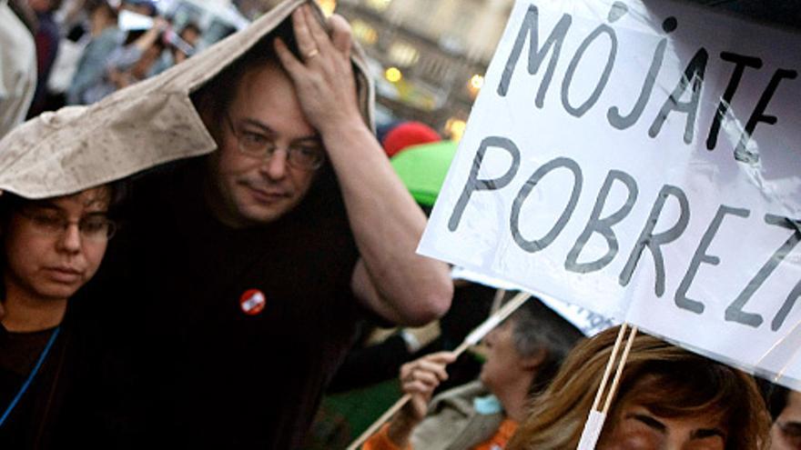Una de tantas manifestaciones contra la creciente pobreza y desigualdad (Efe)