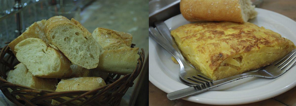 Díptico pan y tortilla