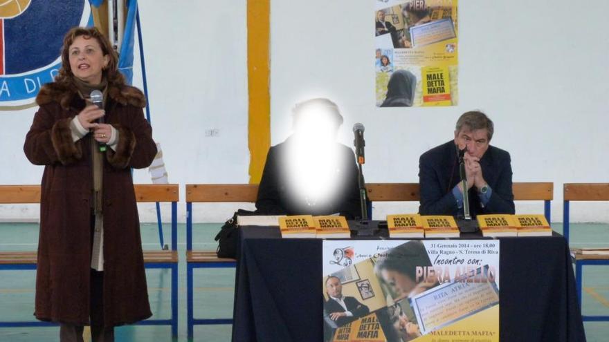 Piera Aiello, en una conferencia en 2014. La foto apareció en la web de una asociación contra la mafia.