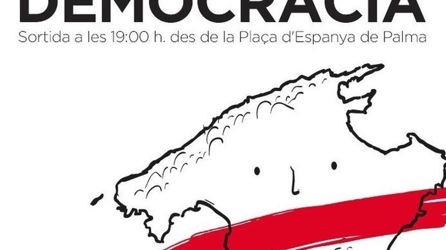 """Palma acoge este viernes una manifestación para exigir """"democracia"""" en Cataluña"""