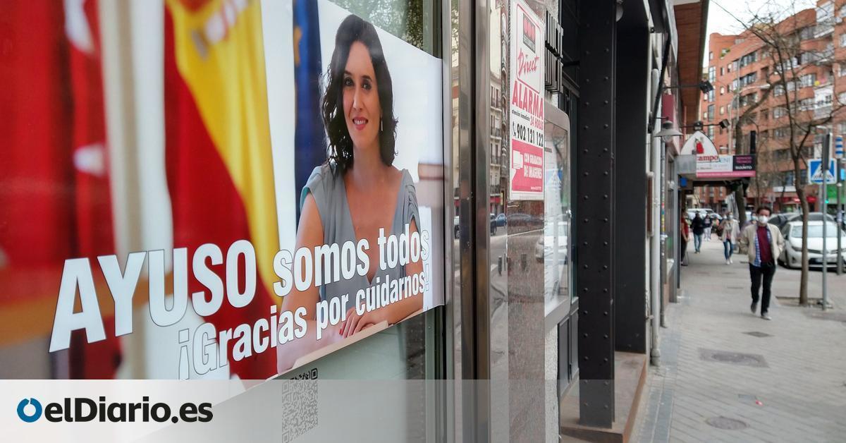 """Los hosteleros de Ponzano hacen campaña por Díaz Ayuso: """"Gracias a esta chica podemos respirar en Madrid"""""""