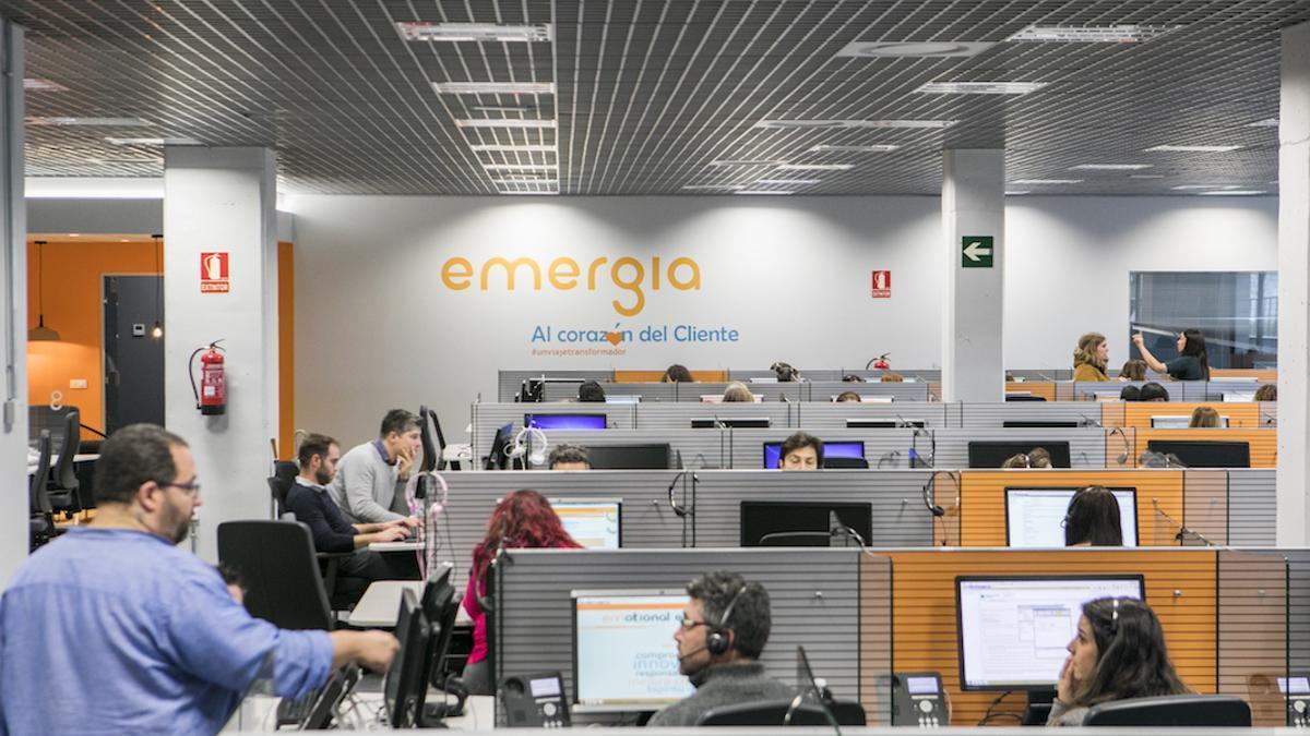 Instalaciones de un call center de Emergia.