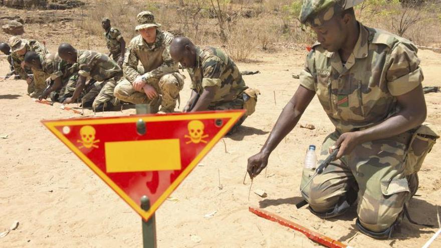 Militares españoles inician la formación del último batallón del ejército Mali