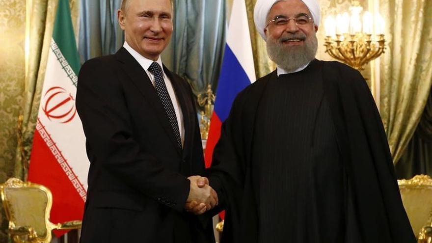 Rohaní afirma que la cooperación con Putin no apunta contra terceros países