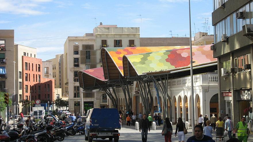 Zona del Mercado de Santa Caterina, en Barcelona.