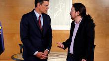 """Pablo Iglesias: """"Pedro Sánchez tiene tiempo para decidir si acepta alguna de las dos ofertas que tiene sobre la mesa"""""""