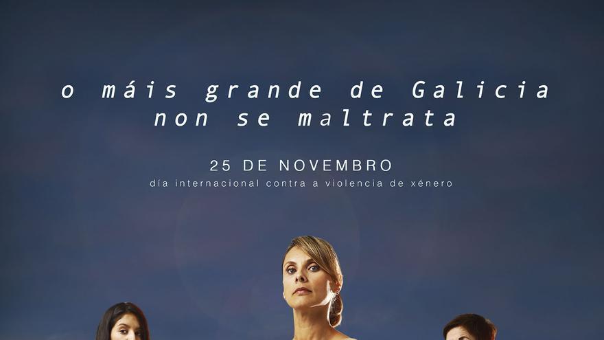 Cartel de la Xunta para el Día Internacional contra la Violencia de Género