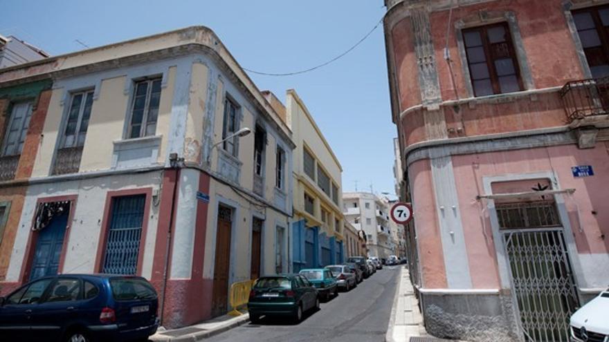 Intersección de la calle de la Rosa con la calle el Señor de las Tribulaciones, en el barrio de El Toscal / santacruzdetenerife.es