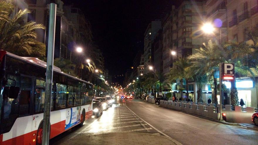 La avenida Alfonso X el Sabio es el centro de Alicante