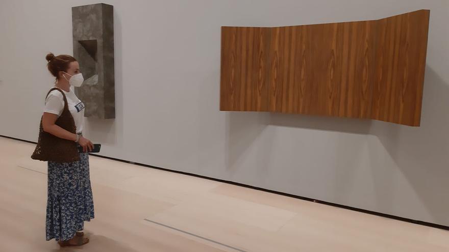 María, durante su visita al museo Guggenheim