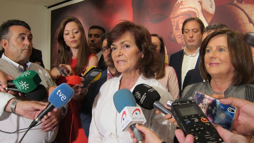 """Calvo afirma que """"con una frase inaceptable"""" como la de Torra """"no se ataca al Estado"""" y pide lealtad a la oposición"""