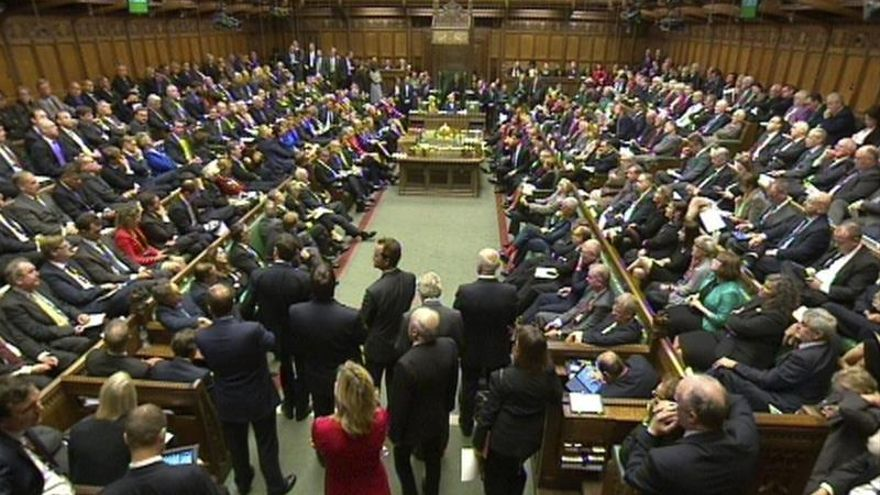 El PMQ es uno de los pocos debates en el Parlamento británico que cuenta con un lleno total.