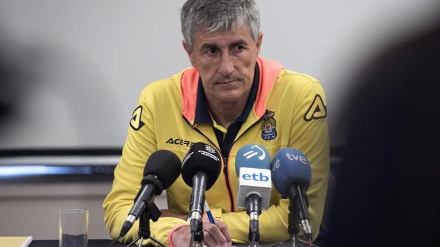 El entrenador de la UD Las Palmas, Quique Setién