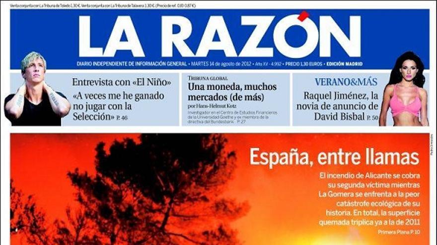 De las portadas del día (14/08/2012) #10