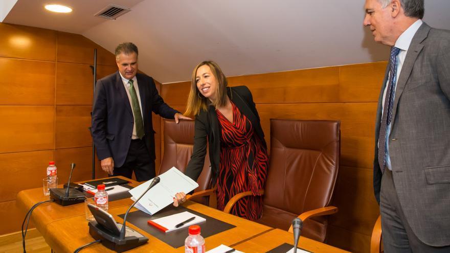 La consejera de Economía y Hacienda, María Sánchez, en el Parlamento. | RAÚL LUCIO