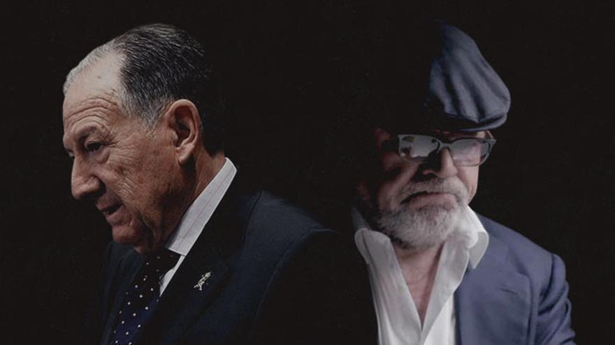 Sanz Roldán, a la izquierda, y José Villarejo, a la derecha, en un montaje fotográfico de eldiario.es.