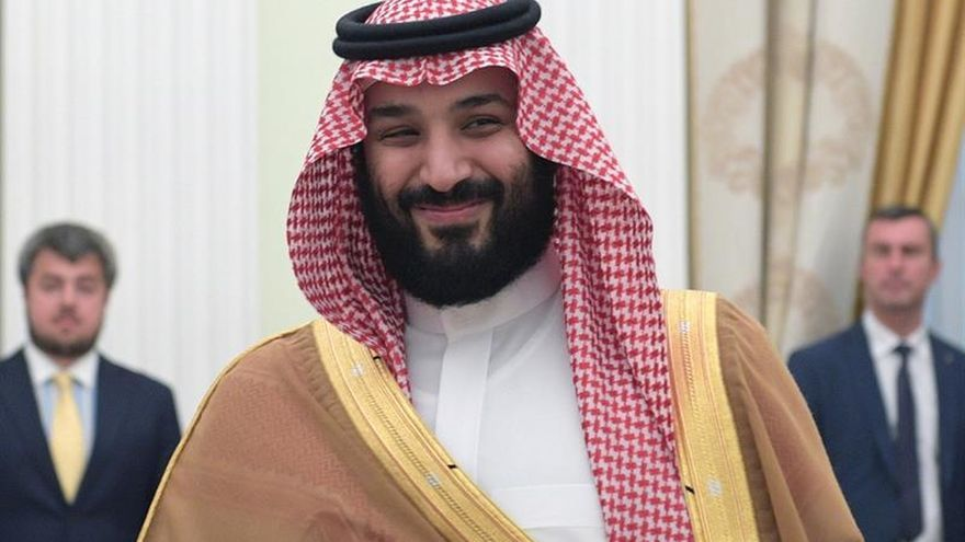 Príncipe heredero de Arabia Saudí se reúne con secretario del Tesoro de EEUU