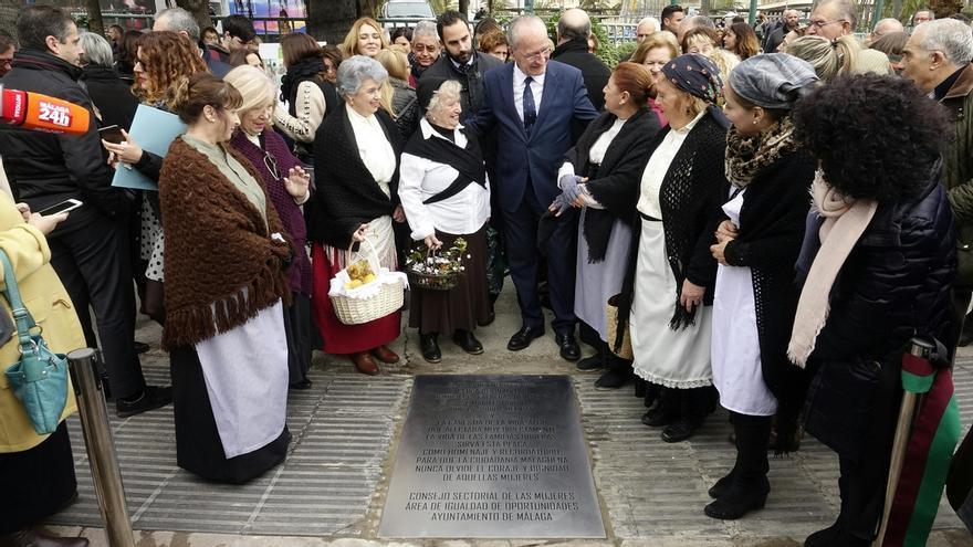 La ciudad conmemora el centenario de la manifestación de las faeneras malagueñas