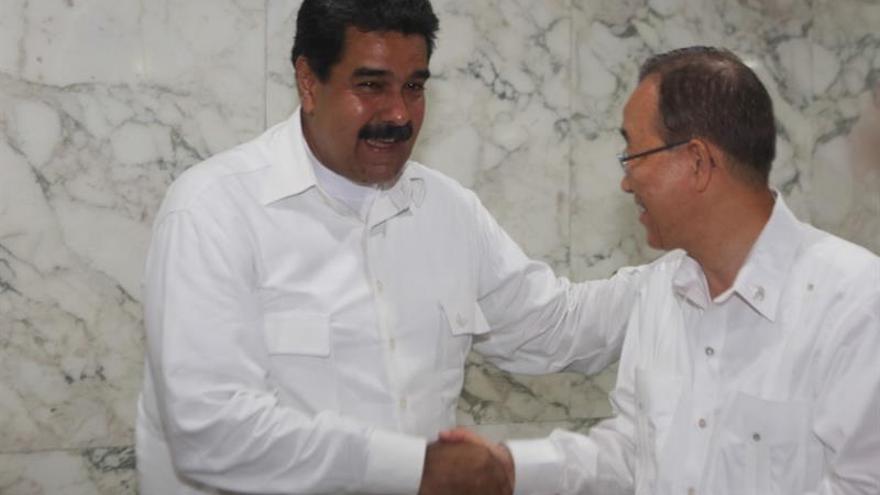 Maduro trató con Ban la disputa entre Venezuela y Guyana por el Esequibo