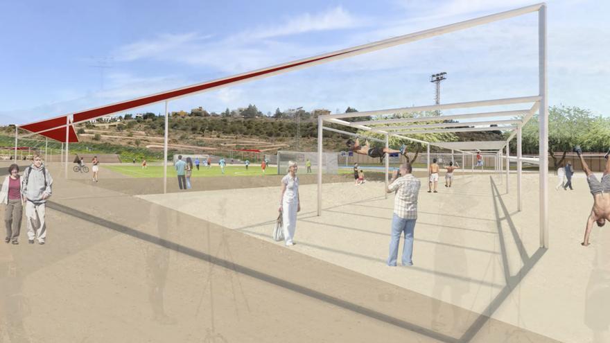 Infografía del centro de tecnificación deportiva de San Lorenzo.