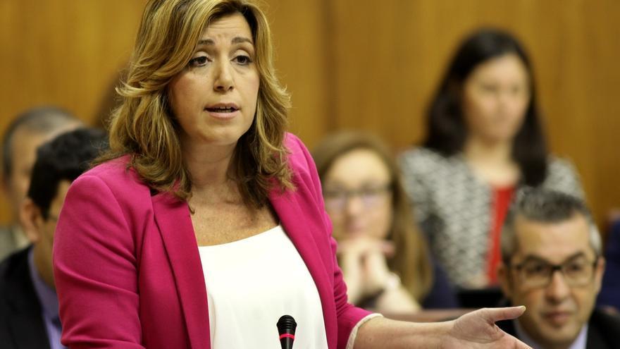Susana Díaz registra su solicitud de comparecencia en un debate general en el Parlamento andaluz