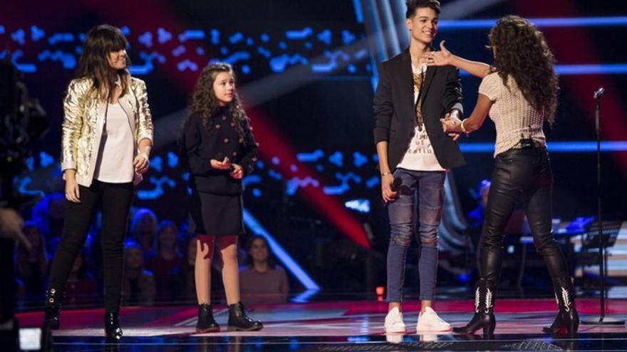 Aray regresó a 'La Voz Kids' para ver cómo los coaches daban la espalda a su hermana