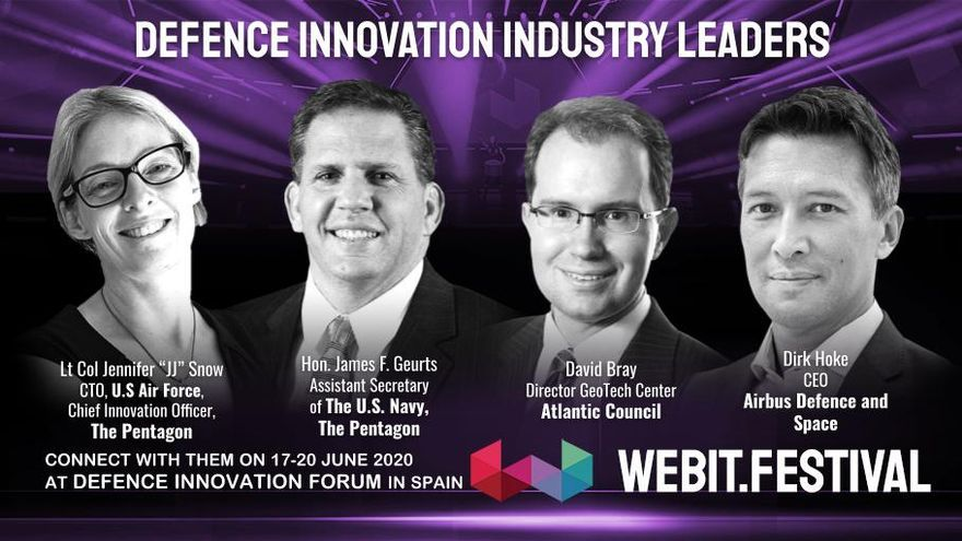 Los ponentes del Defense Innovation Forum que se celebrará en València en el marco del Webit Festival.