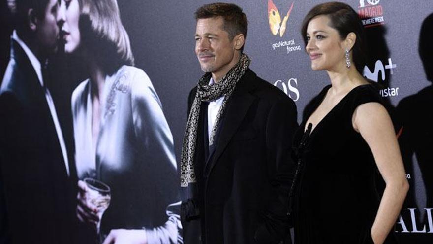 Estrellas de TV, junto a Brad Pitt en Madrid por la première de 'Aliados'