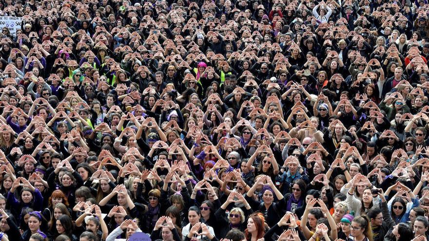Concentración feminista el 8 de marzo en Bilbao
