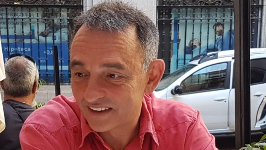 Enrique Santiago, este sábado, en Toledo