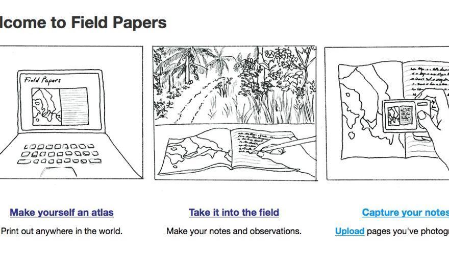Con Field Papers, los voluntarios, trabajadores y habitantes pueden trazar mapas sobre terreno e incorporarlos a OSM después