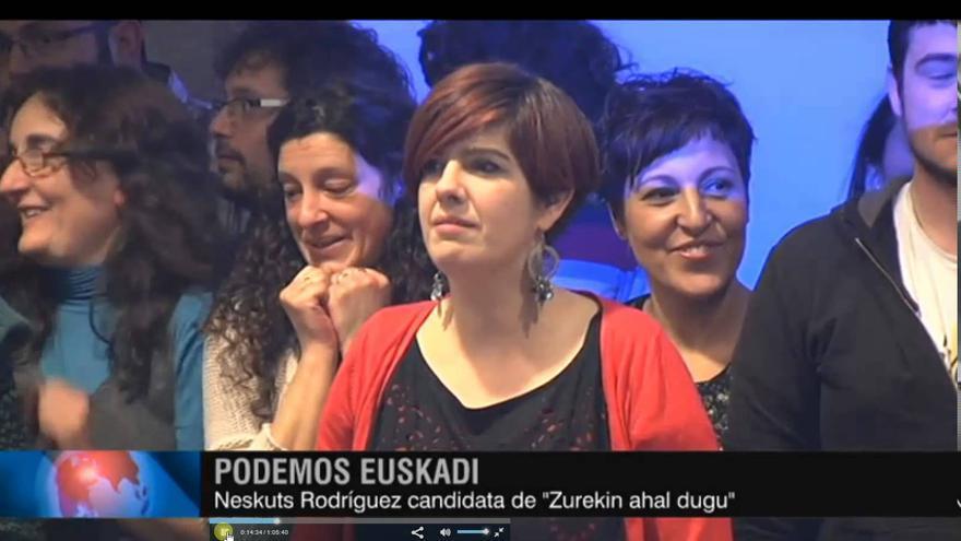 Neskutz Rodríguez, candidata a la secretaría general por Zurekin ahal Dugu