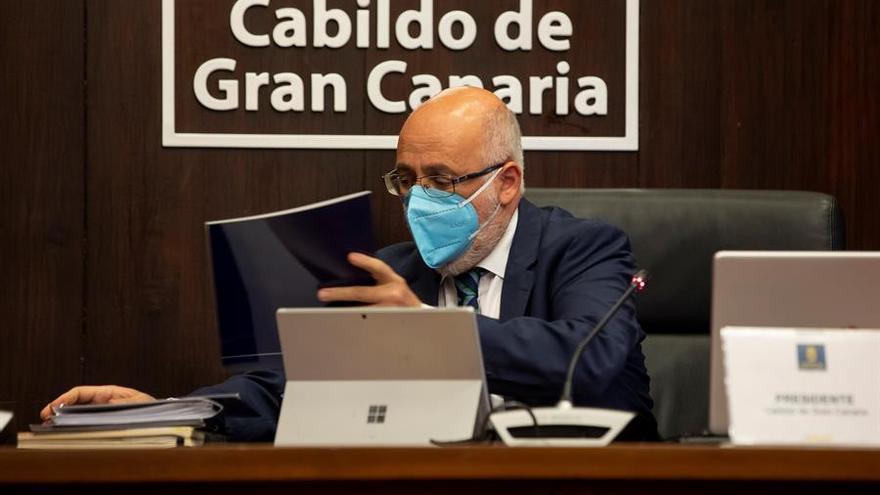 El Cabildo de Gran Canaria hace balance de un mandato marcado por la pandemia, los incendios y la declaración de Risco Caído