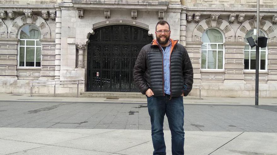 El concejal  y portavoz de Santander Sí Puede, Antonio Matecón.   LARO GARCÍA